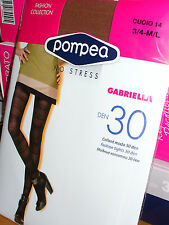 5 paia collant moda POMPEA GABRIELLA 30 den FASHION COLLECTION TAGLIA 3/4