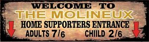 Retro Molineux Sign, Football sign, Wolves FC sign. Retro wall sign