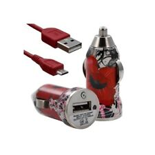 Lighter car charger with usb data cable cv01 for nokia asha 200/: