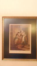 """ Cries of London "" Print in Vintage Frame - Plate 5 "" New Mackrel, New Mackrel"""