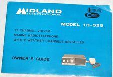 Midland International Marine Radio Telephone Owners Guide Model 13-525
