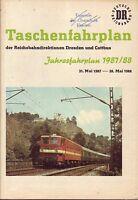 Fahrplan Reichsbahndirektionen Dresden u. Cottbus 1987/1988