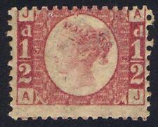 1870 SG 48 1/2d Rose Plate 19 AJ Very Fine Mint Cat. £300.00