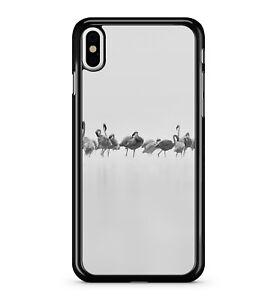 Beautiful Grey Mixed White Tropical Flamingo Bird Flock 2D Phone Case Cover