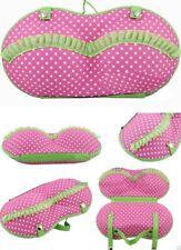 Travel Protect Bra & Underwear Pink dot Organizer Case Bra Bag Zipped Holder