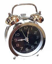 Haut nostalgique design rétro cloche lumière réveil montre
