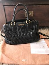 Miu Miu Matelasse Shopping Handbag In Nero - 100% Authentic