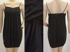Kleid Trägerkleid Girl Sommer Mini Ballon Look Spagettiträger schwarz 34 XS 1A