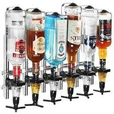 6 Bottle Wall Bracket for Optics With 35ml Measures Spirit Drink Dispenser