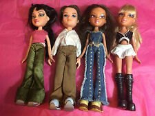 MIXED LOT OF 4 PREVIOUSLY PLAYED WITH BRATZ DOLLS LOT A7