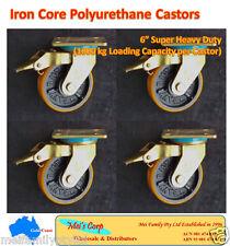 "6"" Polyurethane Castor Wheels,4 Swivel Casters with Brake, 1000kg Load Capacity"