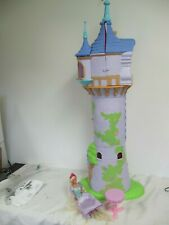 "RAPUNZEL TANGLED LARGE CASTLE TOWER 40"" RARE BARBIE DOLL- HOUSE"