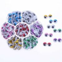 1X(210pcs 10mm Colors Wiggly Googly Eyes With Eyelash With Self-adhesive DIC6X8)