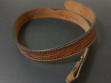 Vintage Tony Lama Hand Tooled Western Style Belt Sz 34 Made in Texas