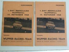 Programm + Ausschreibung 1.DMV Rennslalom Wuppertal 1968