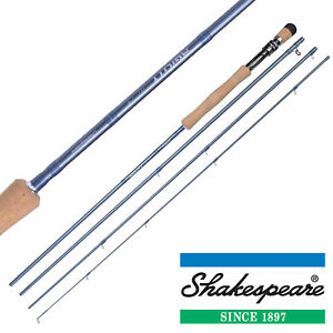 """Shakespeare """"Agility 2"""" Fly Fishing Rods 4 Piece With Cordura Tube - All Models"""