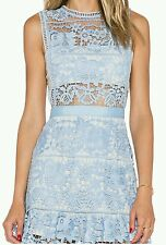 Blue lace dress (inspired by label mrselfportrait)