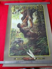 Vintage Remington Knife Poster - TRAPPER 1988