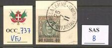 OCC_737. OCCUP. TERRITORIES. 1909 GERUSALEMME stamp. Sas 8. Used on paper.
