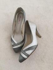Ladies court shoes in silver and Beige by Rainbow, size 4.5
