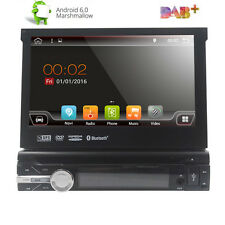 "7"" inch Android 6.0 Flip Out Car DVD Stereo Radio 1DIN Head Unit Player SAT GPS"