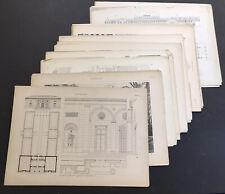 McKim Mead & White  Architectural Prints 1915 Lot Of 30 - 14 X 20in