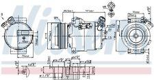 Kompressor Klimaanlage NISSENS 89592 für OPEL ASTRA CLASSIC T98 F35 O-rings CC