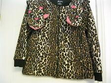 ddc896e9ae Nick Nora Leopard Cheetah Jaguar CAT FEET Footie 1 PC Womens M Pajamas  Fleece