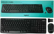 Logitech MK270 Wireless QWERTY Keyboard 2.4 GHz & M185 Mouse & USB Nano Receiver