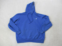 VINTAGE Champion Sweater Adult Extra Large Blue Gray Hoodie Hooded Mens 90s *