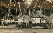 Singapore, Malay Fishing Village Real Photo Postcard