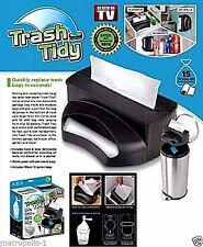 AS SEEN ON TV,TRASH TIDY GARBAGE BAG DISPENSER & ORGANIZER,15 BAGS INCLUDED,NEW