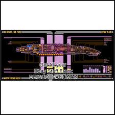 Fridge Fun Refrigerator Magnet STAR TREK USS DEFIANT Starship LCARS Schematic
