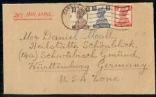 Mayfairstamps India 1949 Cannanore to US Zone Germany Airmail Cover wwf47075