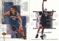 Wally Szczerbiak Lot of 2 different Minnesota Timberwolves basketball Cards