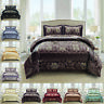 3 Piece Jacquard Quilted Bedspread Comforter Throw Double King Sizes Bedding Set