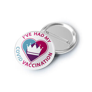 2 pack   Vaccination Pin Badges   I've had the jab UK - Vaccine Safe
