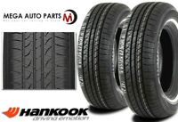 2 Hankook Optimo H724 P205/75R15 97S White Wall WSW All Season Touring Tires