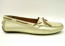 Clarks Artisan Gold Leather Bow Deck Boat Driving Flats Shoes Women's 9.5 W