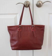 LONGCHAMP LM Cuir purse carmine burgundy red leather tote bag purse FRANCE
