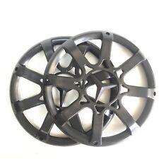"2 Pcs 8"" ABS Plastic Speaker Cover Grill For Car Audio DJ PA Speaker All Black"