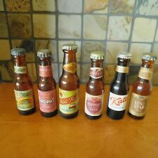 VINTAGE LOT of SIX DIFFERENT EMPTY MINIATURE BEER BOTTLES / MANY are RARE.