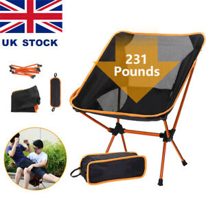 Portable Folding Camping Chairs Heavy Duty Luxury Padded Outdoor Fishing Seat