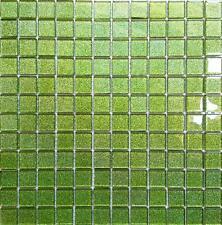 Green Glitter Glass Mosaic Tiles Sheet 300x300x4mm (MT0020)