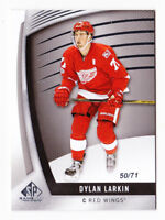 17-18 SP Game Used Dylan Larkin /71 Detroit Red Wings 2017