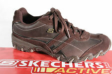 Skechers Men's Sneakers Braun, Removable Footbed, Real Leather New