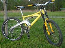 Vintage Custom Foes Weasel Mountain Bike USA MTB bicycle Yellow sz M-L