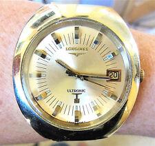 1970 Swiss GP Longines Ultronic Tuning Fork ESA9162 Date Bracelet Watch Service