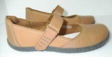 ORTHAHEEL Sara Women's Brown Leather Mary Jane Slip-On Flat Shoes Sz 9 TVW1254