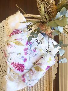 Baby Bamboo Cotton Swaddle Blanket Muslin Wrap - Australian Bloom